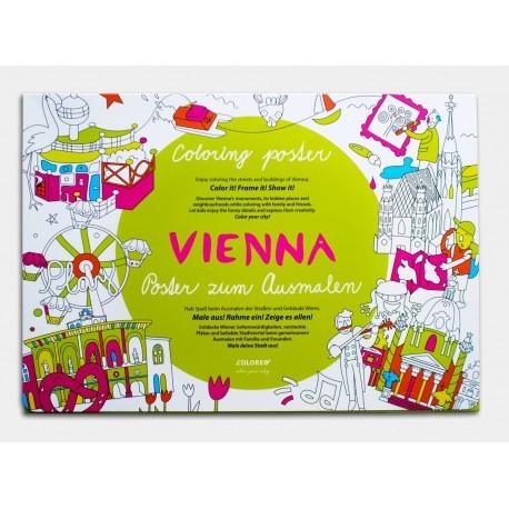 Viedeň zábavná omaľovánka pre deti