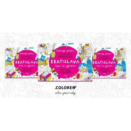 Sada 3 máp Coloreo - omaľovaniek určených na vyfarbenie