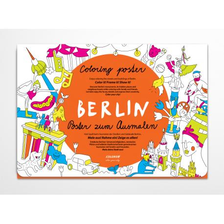Berlín zábavná omaľovánka pre deti